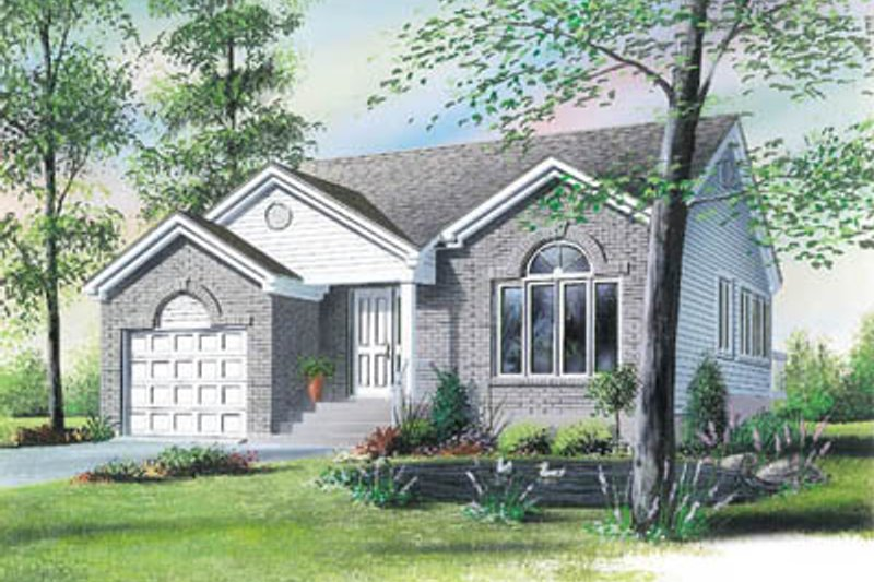 Modern Style House Plan - 2 Beds 1 Baths 1145 Sq/Ft Plan #23-1021 Exterior - Front Elevation