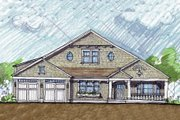 Colonial Style House Plan - 3 Beds 3 Baths 3241 Sq/Ft Plan #440-3 Exterior - Front Elevation