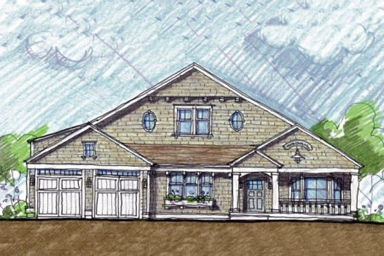 Colonial Exterior - Front Elevation Plan #440-3