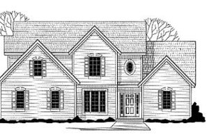 Traditional Exterior - Front Elevation Plan #67-141