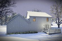 Farmhouse Exterior - Rear Elevation Plan #70-1453