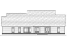 Colonial Exterior - Rear Elevation Plan #21-376