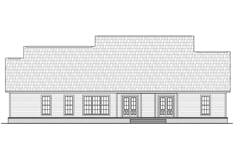 Colonial Exterior - Rear Elevation Plan #21-376 - Houseplans.com