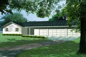 Ranch Exterior - Front Elevation Plan #1-1062