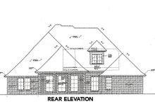 Tudor Exterior - Rear Elevation Plan #310-659
