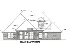 House Plan Design - Tudor Exterior - Rear Elevation Plan #310-659