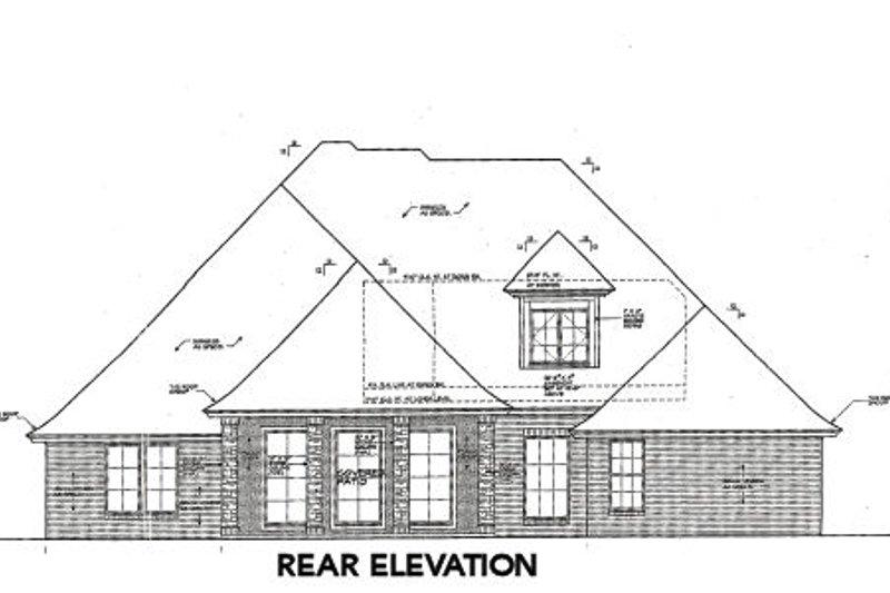 Tudor Exterior - Rear Elevation Plan #310-659 - Houseplans.com