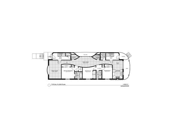 Contemporary Floor Plan - Main Floor Plan Plan #535-20