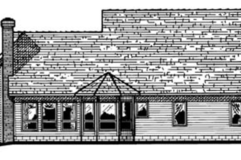 Colonial Exterior - Rear Elevation Plan #20-951 - Houseplans.com