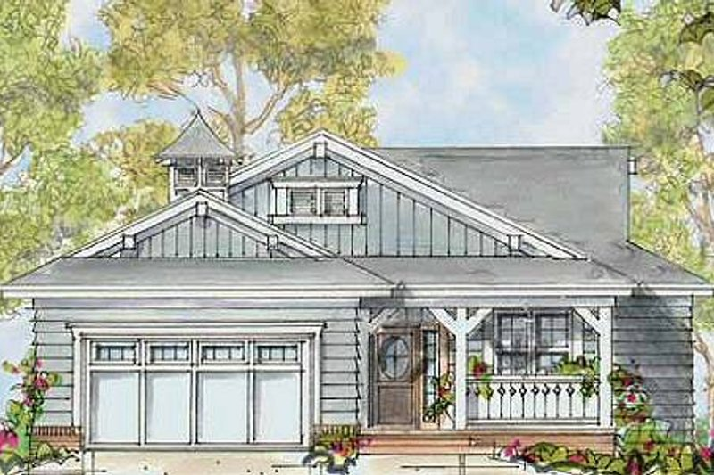 Bungalow Exterior - Front Elevation Plan #20-1385