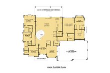 Contemporary Floor Plan - Main Floor Plan Plan #1066-112