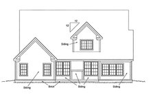 Home Plan Design - Traditional Exterior - Rear Elevation Plan #20-1356