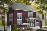 Country Style House Plan - 3 Beds 2 Baths 1595 Sq/Ft Plan #23-2265 Exterior - Rear Elevation