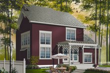 Home Plan - Country Exterior - Rear Elevation Plan #23-2265