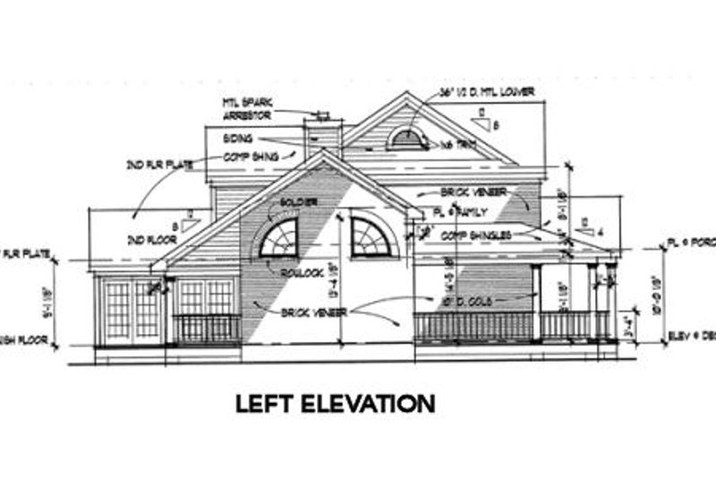 Southern Exterior - Other Elevation Plan #120-138 - Houseplans.com