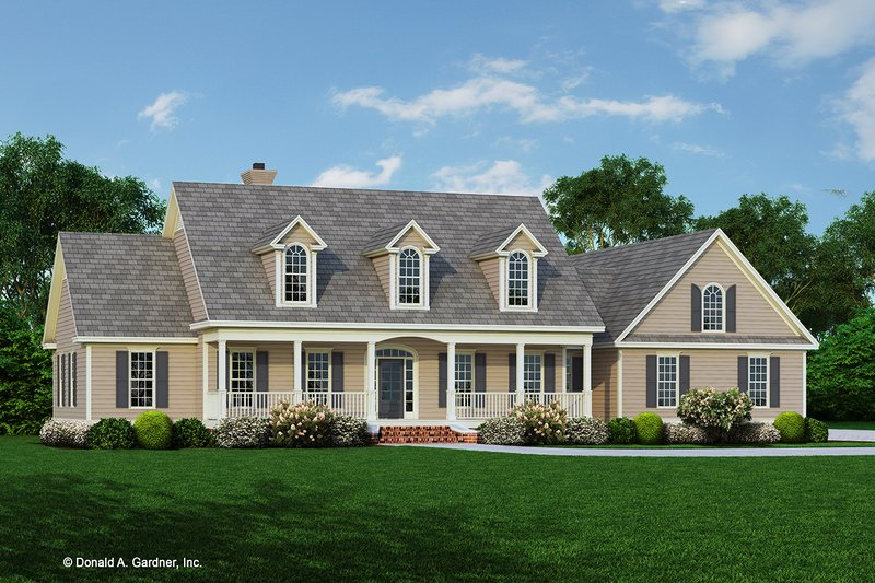 Ranch Style House Plan - 4 Beds 3 Baths 2487 Sq/Ft Plan #929-406 Exterior - Front Elevation