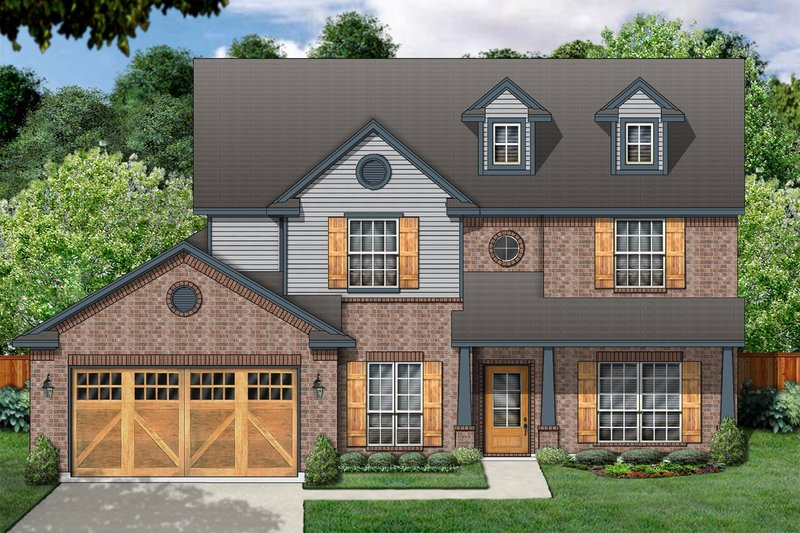 Traditional Exterior - Front Elevation Plan #84-394 - Houseplans.com