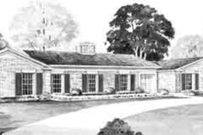 House Blueprint - Ranch Exterior - Front Elevation Plan #72-227