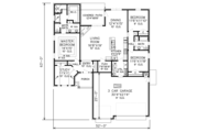 Traditional Style House Plan - 3 Beds 2 Baths 1866 Sq/Ft Plan #65-512 Floor Plan - Main Floor Plan