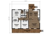 Country Style House Plan - 3 Beds 2 Baths 1120 Sq/Ft Plan #1077-1 Floor Plan - Main Floor