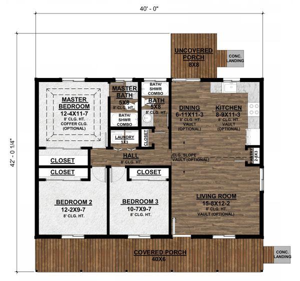 Country Floor Plan - Main Floor Plan #1077-1