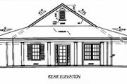 Southern Style House Plan - 3 Beds 2 Baths 1567 Sq/Ft Plan #36-136 Exterior - Rear Elevation