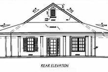 Southern Exterior - Rear Elevation Plan #36-136