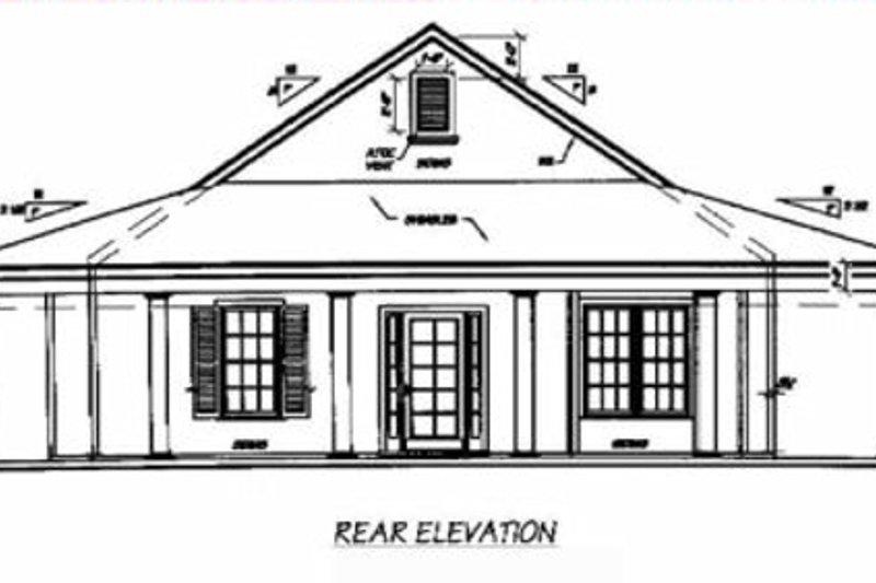 Southern Exterior - Rear Elevation Plan #36-136 - Houseplans.com
