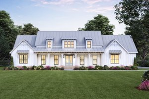 Architectural House Design - Farmhouse Exterior - Front Elevation Plan #1074-39