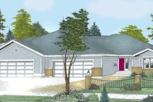 Traditional Exterior - Front Elevation Plan #100-106