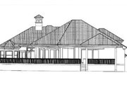 Mediterranean Style House Plan - 4 Beds 5 Baths 4128 Sq/Ft Plan #27-213 Exterior - Rear Elevation