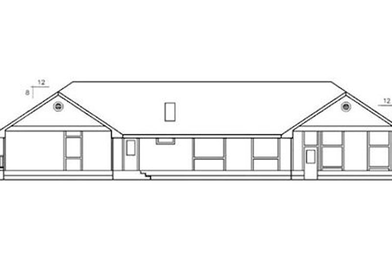 Ranch Exterior - Rear Elevation Plan #60-268 - Houseplans.com