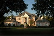 Classical Style House Plan - 4 Beds 4.5 Baths 3559 Sq/Ft Plan #472-1 Exterior - Front Elevation