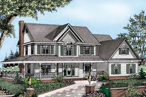 Home Plan - Country Exterior - Front Elevation Plan #11-221