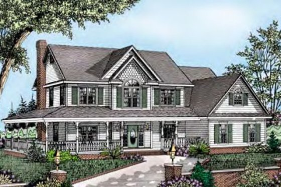 Country Exterior - Front Elevation Plan #11-221