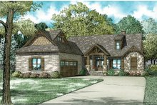 House Plan Design - European Exterior - Front Elevation Plan #17-2574
