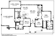 Ranch Style House Plan - 2 Beds 2.5 Baths 2200 Sq/Ft Plan #70-1422 Floor Plan - Main Floor Plan