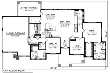Ranch Floor Plan - Main Floor Plan Plan #70-1422