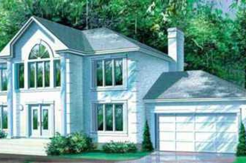 European Style House Plan - 4 Beds 3 Baths 3352 Sq/Ft Plan #25-2250 Exterior - Front Elevation