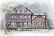 Colonial Style House Plan - 4 Beds 4.5 Baths 4274 Sq/Ft Plan #54-112 Exterior - Other Elevation