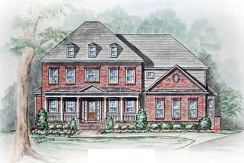 Colonial Exterior - Other Elevation Plan #54-112 - Houseplans.com