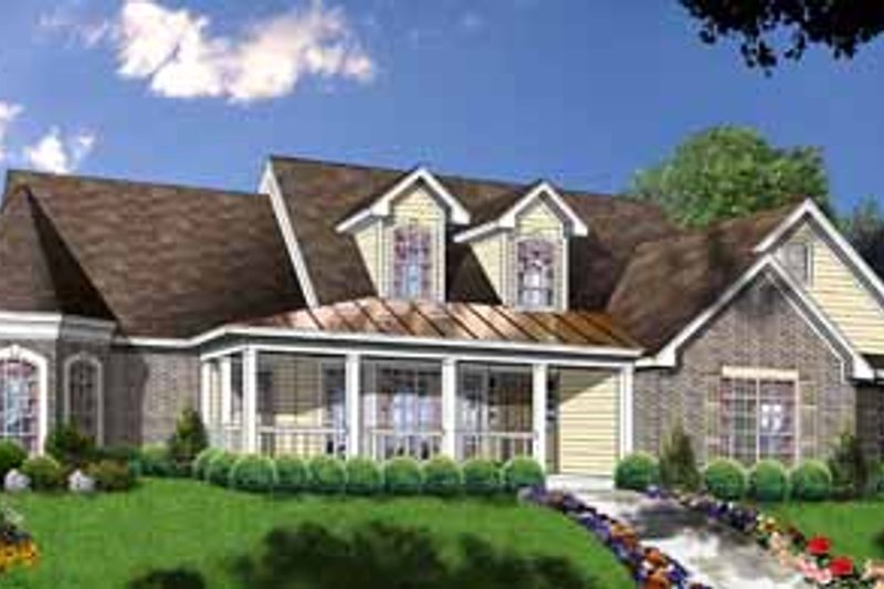 Country Exterior - Front Elevation Plan #40-319