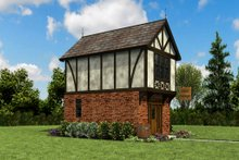 Tudor Exterior - Other Elevation Plan #48-999