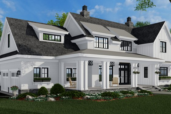 Farmhouse Exterior - Front Elevation Plan #51-1155