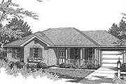 Traditional Style House Plan - 3 Beds 2 Baths 1070 Sq/Ft Plan #14-152 Exterior - Front Elevation