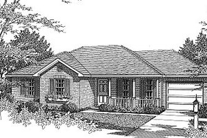 Traditional Exterior - Front Elevation Plan #14-152