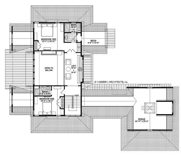 Country Floor Plan - Upper Floor Plan Plan #928-322