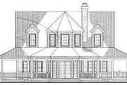 Country Style House Plan - 3 Beds 2.5 Baths 1895 Sq/Ft Plan #72-118 Exterior - Rear Elevation
