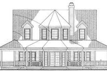 Country Exterior - Rear Elevation Plan #72-118