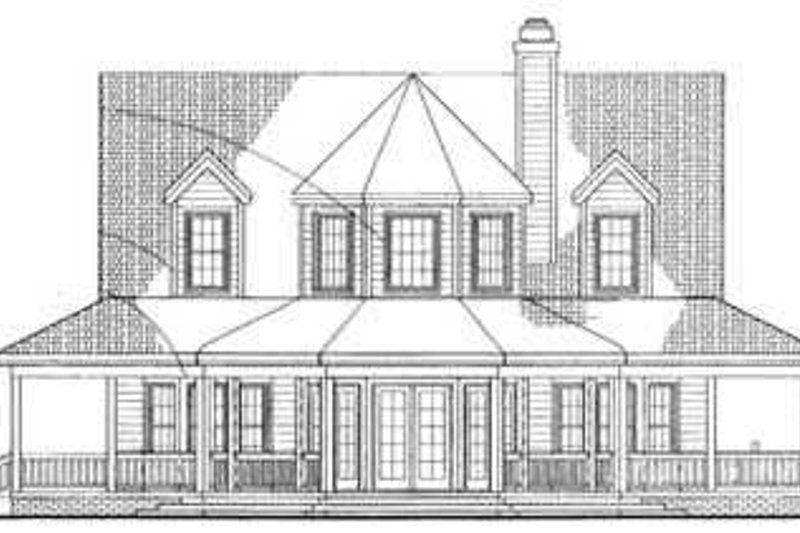 Country Exterior - Rear Elevation Plan #72-118 - Houseplans.com